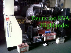 Genset Deutz 100 KVA