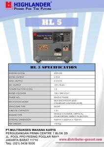 Brosur HL 5s