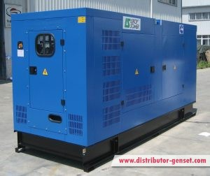 TCM350,blue color canopied genset